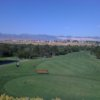 A view of a tee at Hidden Valley Country Club.