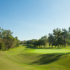 A sunny day view of a hole at Club de Golf Valle Alto.