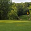 A sunny day view of a hole at Gunpowder Golf Club.