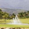 A view of a tee at Coco Beach Golf Club.