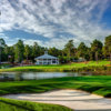 A view of a hole and the clubhouse at No. 7 from Pinehurst Resort & Country Club.