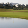A view of a green with water coming into play at Peraleja Golf Club.