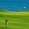A view of a hole at Puerto Los Cabos Golf Club.