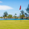A view of a hole with water coming into play at Makani Golf Club.
