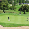A view of a green at Naperbrook Golf Course.
