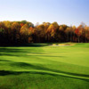A fall day view of a hole at Waverly Woods Golf Course.