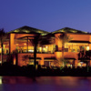 A night view of the clubhouse at Indian Ridge Country Club