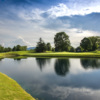 A view over the water of a hole at Chattanooga Golf & Country Club.