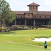 A view of the clubhouse and a hole at Fazio Course from The Club At Carlton Woods.