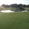 A view of a green at Hidden Meadows Golf Course.