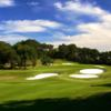 A view of two well protected greens at Texas Star Golf Course.