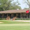 A view of a hole and the clubhouse in background at Glenview Park Golf Club.