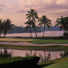 A sunset view of a hole at Jupiter Island Club.