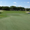 A view of the 18th green from South at John's Island Club.