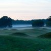 A misty morning day view of a hole at Cape Arundel Golf Club.