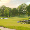 A sunny day view of green #6 at Bellerive Country Club.