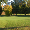A fall day view of a hole at Malone Golf Club.