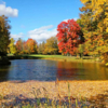 A splendid fall day view of a hole at Town Of Colonie Golf Course.