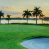 A sunset view of a hole at Okeeheelee Golf Course.