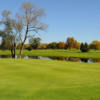 A fall day view of a green from Pleasant Knolls Golf Course at Turning Stone.