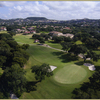 Aerial view of the 15th green at Dominion Country Club