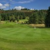 A view of the 15th green at Allander Course from Hilton Park Golf Club.