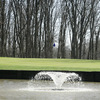 A view of the 7th hole with water fountain in foreground at Bent Tree Golf Club