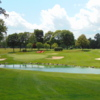 A view of a green with water coming into play at Grosse Ile Golf & Country Club.
