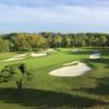 A view of the 1st hole from Spring/Mill at Philadelphia Country Club.