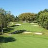 A view of green #6 from Spring/Mill at Philadelphia Country Club.