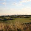 A view of a green from Trump Golf Links at Ferry Point.