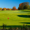 A fall day view of a hole at Walloon Lake Country Club.