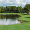 A view of a tee at Bear's Paw Country Club.