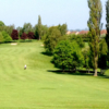 A sunny day view from a tee at Stafford Castle Golf Club.