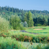 A view from hole #8 sign at Heron Links Course from Willows Run Golf Club.