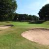 A view of the 4th green at Whittington Heath Golf Club.