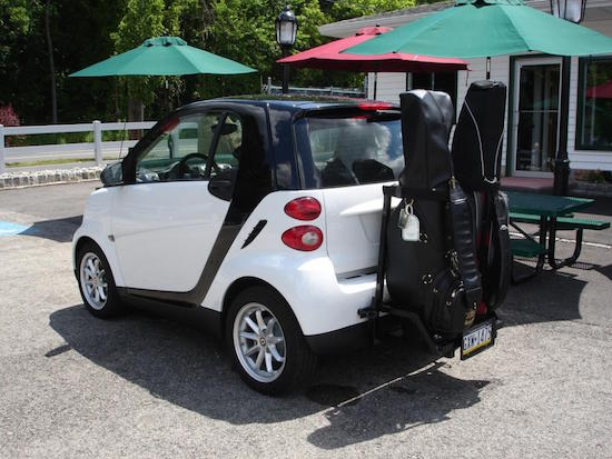 Don't let your car situation come to this on your next golf trip. (smartcarofamerica.com)
