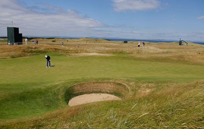 ahead of the 142nd Open Championship at Muirfield on July 15, 2013 in Gullane, Scotland.