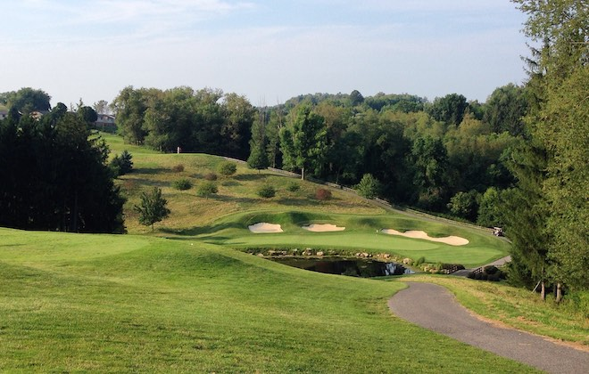 Oglebay Resort's Arnold Palmer-designed Klieves Course has an intriguing set of par threes, including the drop-shot 13th.