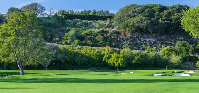 The most striking aspect of the renovations at Quail Lodge is undoubtedly the rustic, eye-catching bunkering. (Quail Lodge & Club)