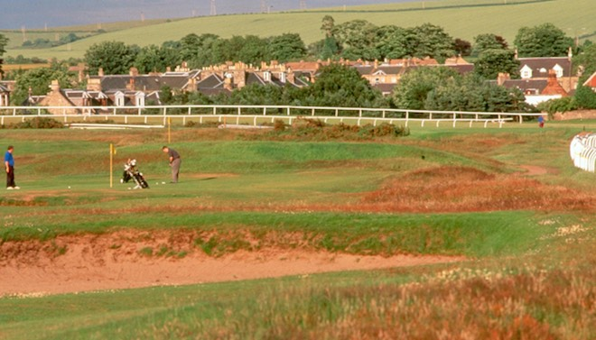 Musselburgh Links: where racecourse meets golf course. (Golf East Lothian/Musselburgh Links)