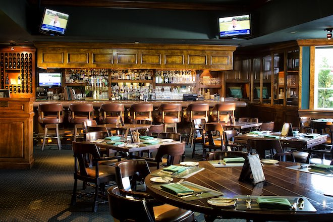 The famed Tap Room at Pebble Beach is a must-see pilgrimage site for any golf lover. (TGO)