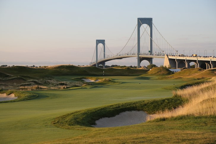 It took more than $200 million to get it squared away, but one would hardly realize that Trump Golf Links at Ferry Point sits on a former municipal waste dump. (Courtesy of The Trump Organization)