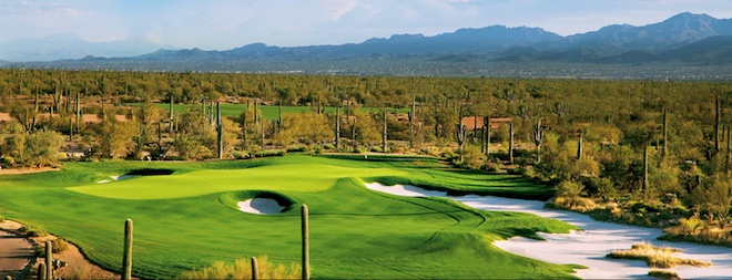 The greens at the Golf Club at Dove Mountain are big, multi-tiered and pristine, making putting a formidable challenge even for PGA Tour pros. (The Golf Club at Dove Mountain)