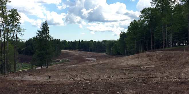 Sage Run, now under construction, will have a more wooded and rustic feel than Sweetgrass, creating an intriguing contrast. This will be a thrilling par five soon.