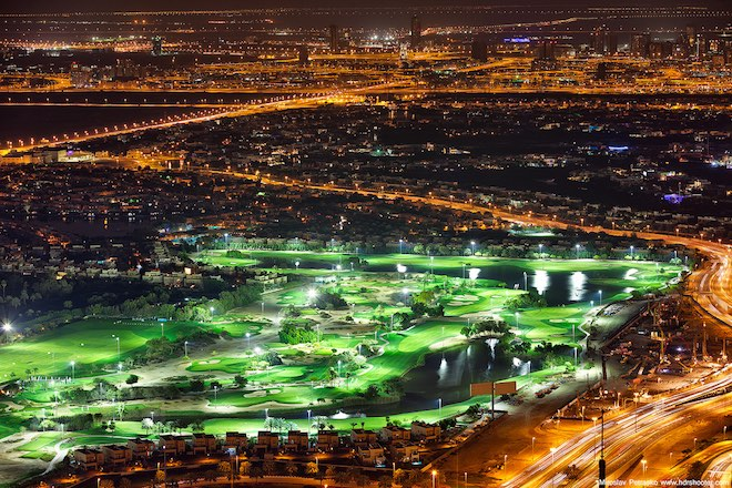 You can play night golf in Dubai, but don't get caught kissing in public.