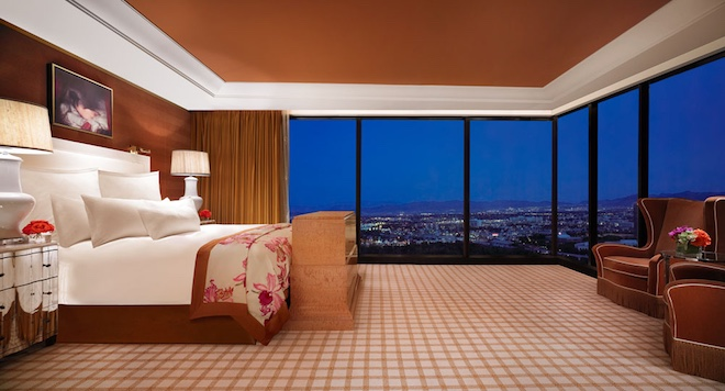 Commanding views of Sin City are the norm at the higher floors at the Wynn. (Wynn Las Vegas)