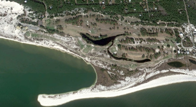 This aerial was taken while Isle Dauphine was closed, but it's open again under new ownership. It's easy to see the potential inherent to the site. (Google Maps)