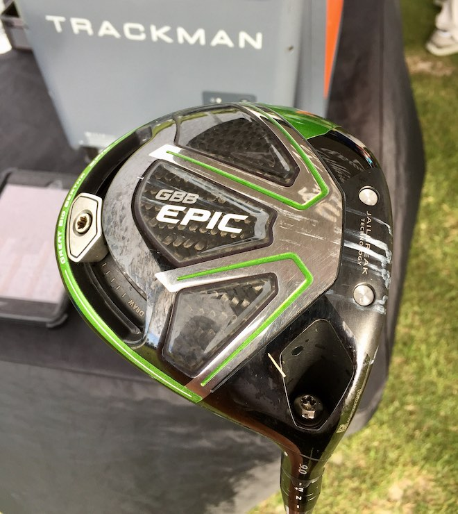 A close-up of the standard Epic. Note the curved track weight slider on the back, for fine-tuning some of its shot-shaping powers.