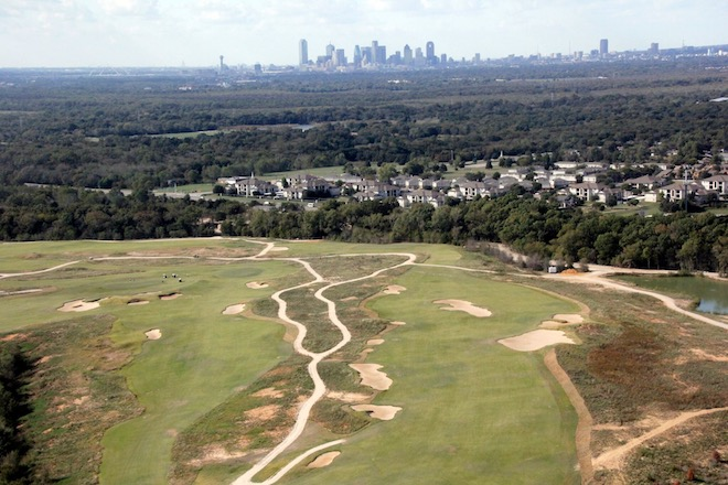Rolling terrain, strategic bunkering and intricate green complexes will provide the bulk of the challenge at Trinity Forest. (AT&T Byron Nelson)